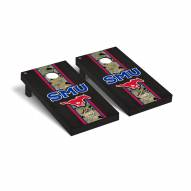 Southern Methodist Mustangs Operation Hat Trick Onyx Stained Cornhole Game Set