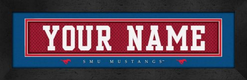 Southern Methodist Mustangs Personalized Stitched Jersey Print