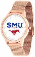 Southern Methodist Mustangs Rose Mesh Statement Watch