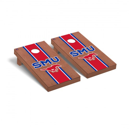 Southern Methodist Mustangs Rosewood Stained Cornhole Game Set
