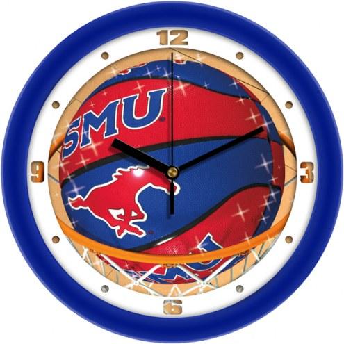 Southern Methodist Mustangs Slam Dunk Wall Clock