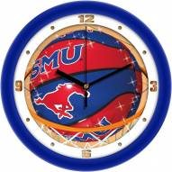 Southern Methodist Mustangs Slam Dunk Wall Clock