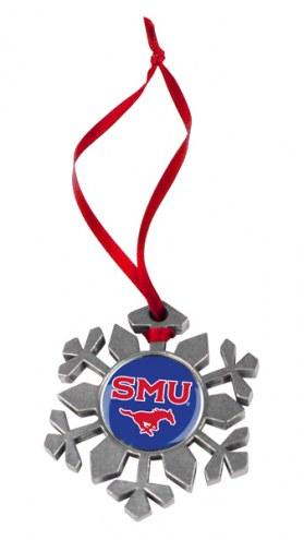 Southern Methodist Mustangs Snow Flake Ornament
