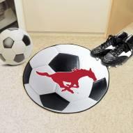 Southern Methodist Mustangs Soccer Ball Mat