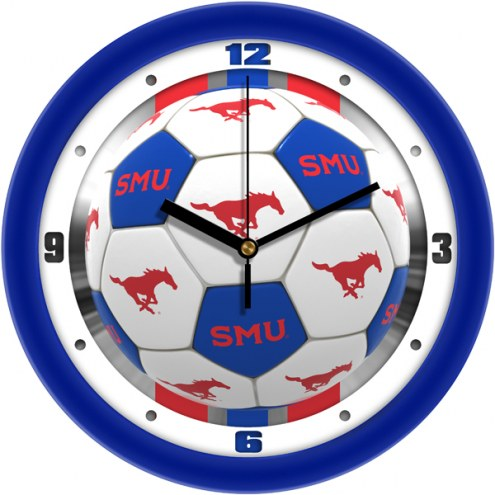 Southern Methodist Mustangs Soccer Wall Clock