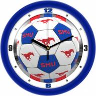 Southern Methodist Mustangs Soccer Wall Clock