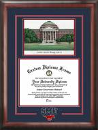 Southern Methodist Mustangs Spirit Diploma Frame with Campus Image
