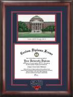 Southern Methodist Mustangs Spirit Graduate Diploma Frame