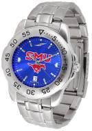 Southern Methodist Mustangs Sport Steel AnoChrome Men's Watch
