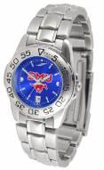 Southern Methodist Mustangs Sport Steel AnoChrome Women's Watch