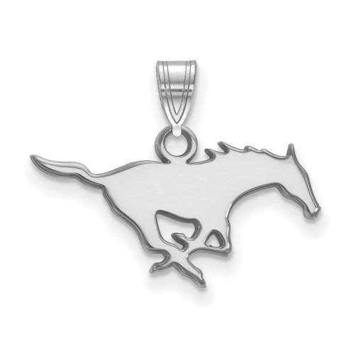 Southern Methodist Mustangs Sterling Silver Small Pendant