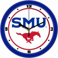 Southern Methodist Mustangs Traditional Wall Clock