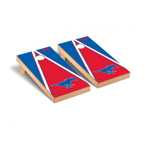 Southern Methodist Mustangs Triangle Cornhole Game Set