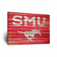 Southern Methodist Mustangs Weathered Canvas Wall Art