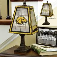 Southern Mississippi Golden Eagles Art Glass Table Lamp