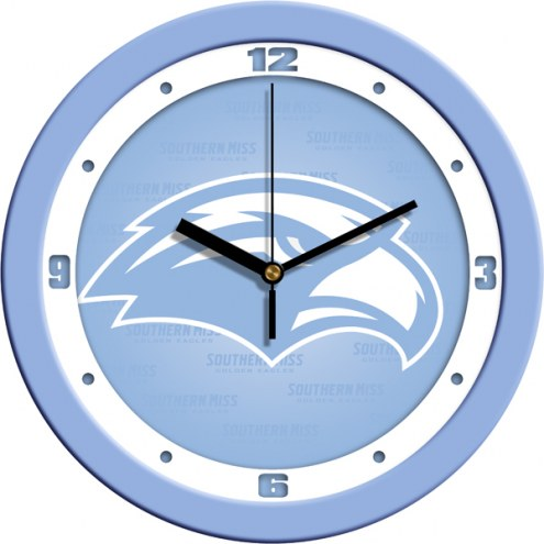 Southern Mississippi Golden Eagles Baby Blue Wall Clock