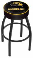 Southern Mississippi Golden Eagles Black Base Swivel Bar Stool