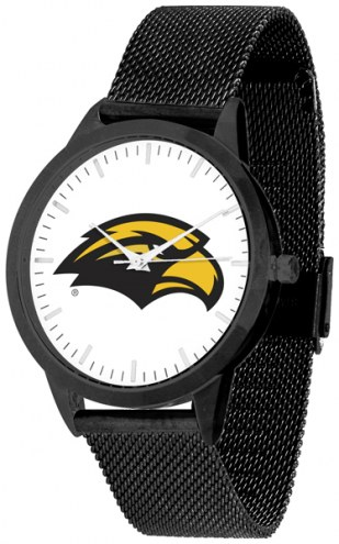 Southern Mississippi Golden Eagles Black Mesh Statement Watch