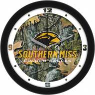 Southern Mississippi Golden Eagles Camo Wall Clock