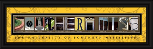 Southern Mississippi Golden Eagles Campus Letter Art