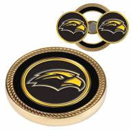 Southern Mississippi Golden Eagles Challenge Coin with 2 Ball Markers