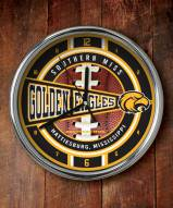 Southern Mississippi Golden Eagles Chrome Wall Clock