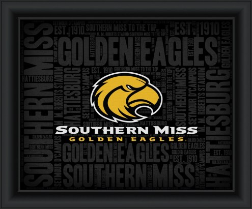 Southern Mississippi Golden Eagles College Word Cloud