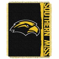 Southern Mississippi Golden Eagles Double Play Woven Throw Blanket