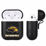 Southern Mississippi Golden Eagles Fan Brander Apple Air Pods Leather Case