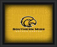 Southern Mississippi Golden Eagles Framed Word Cloud