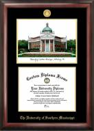 Southern Mississippi Golden Eagles Gold Embossed Diploma Frame with Lithograph