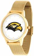 Southern Mississippi Golden Eagles Gold Mesh Statement Watch