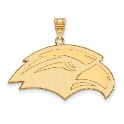 Southern Mississippi Golden Eagles Sterling Silver Gold Plated Large Pendant