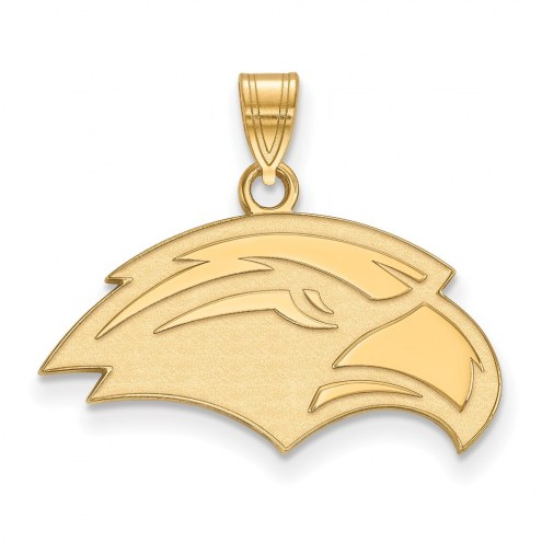 Southern Mississippi Golden Eagles Sterling Silver Gold Plated Small Pendant