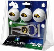 Southern Mississippi Golden Eagles Golf Ball Gift Pack with Hat Trick Divot Tool