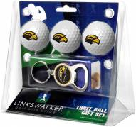 Southern Mississippi Golden Eagles Golf Ball Gift Pack with Key Chain