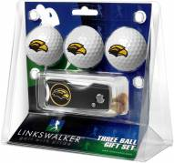 Southern Mississippi Golden Eagles Golf Ball Gift Pack with Spring Action Divot Tool
