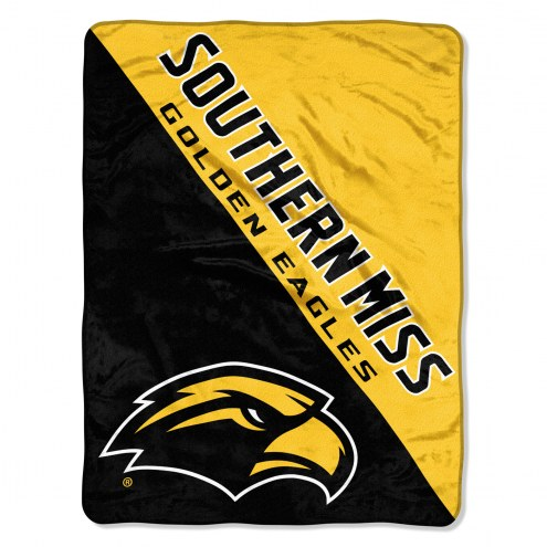Southern Mississippi Golden Eagles Halftone Raschel Blanket