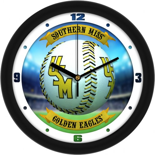 Southern Mississippi Golden Eagles Home Run Wall Clock