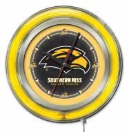 Southern Mississippi Golden Eagles Neon Clock