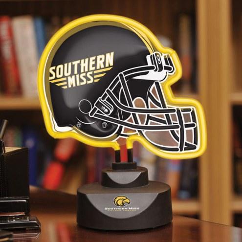 Southern Mississippi Golden Eagles Neon Helmet Desk Lamp