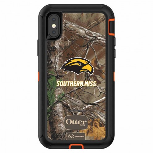 Southern Mississippi Golden Eagles OtterBox iPhone X Defender Realtree Camo Case