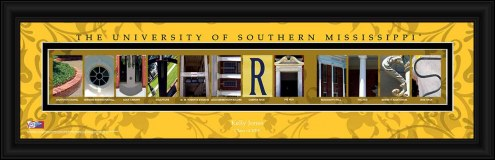 Southern Mississippi Golden Eagles Personalized Campus Letter Art