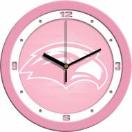 Southern Mississippi Golden Eagles Pink Wall Clock