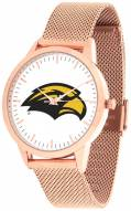 Southern Mississippi Golden Eagles Rose Mesh Statement Watch