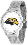 Southern Mississippi Golden Eagles Silver Mesh Statement Watch