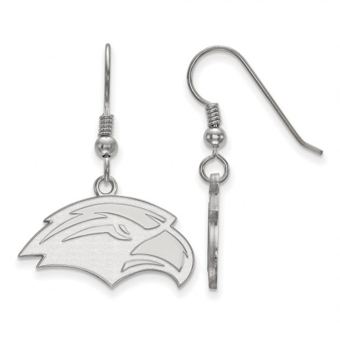 Southern Mississippi Golden Eagles Sterling Silver Small Dangle Earrings