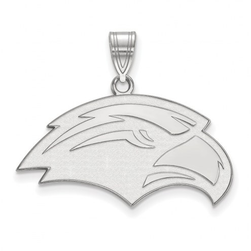 Southern Mississippi Golden Eagles Sterling Silver Medium Pendant