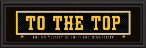 "Southern Mississippi Golden Eagles ""To The Top"" Stitched Jersey Framed Print"