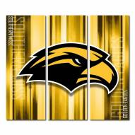 Southern Mississippi Golden Eagles Triptych Rush Canvas Wall Art